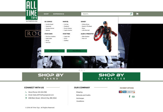Toy Store Website Sleek and Elegant