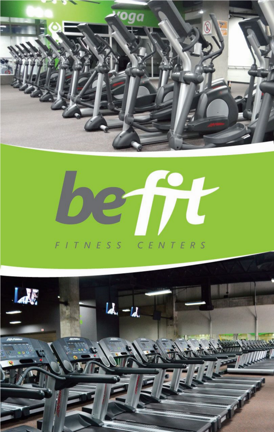 Be Fit equipment and logo