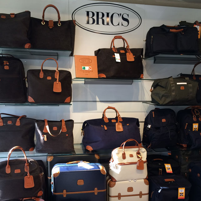 Shelf space of expensive BRIC'S bags