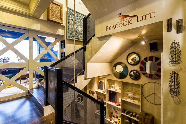 Entryway to peacock life
