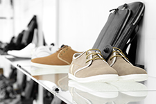 modern-looking shoes on rack